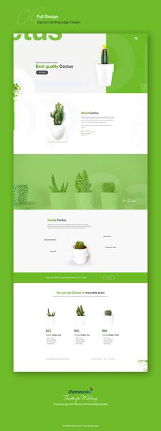 Cactus Landing Page Design Concept .. on Behance