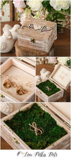 We Do ! Wooden wedding ring bearer box #weddingring #weddingbox #ringbox #wood #eco #boho #bohemian #weddingideas