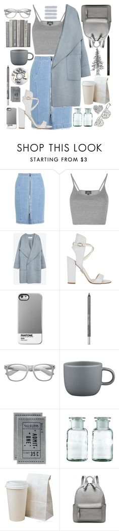"""""""Looking for answers in the pouring rain"""" by merryfluffytutu ❤ liked on Polyvore featuring Steve J & Yoni P, Topshop, Zara, Paul Andrew, Urban Decay, Retrò, CB2 and H&M"""