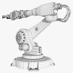 Industrial Robot Arm Model 2 Model available on Turbo Squid, the world's leading provider of digital models for visualization, films, television, and games. Mechanical Engineering Design, Mechanical Design, Robot Cute, Polygon Modeling, Mechanical Arm, Robotic Automation, Hard Surface Modeling, Spaceship Interior, 3d Sketch