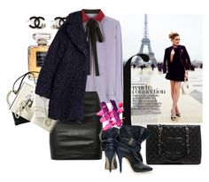"""""""Weekend in Paris"""" by harperleo ❤ liked on Polyvore featuring мода, Louis Vuitton, French Connection, Chanel, Valentino, The Row и Zadig & Voltaire"""