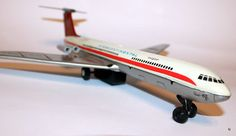 Vintage 60s Intercontinental Airlines Tin Toy Plane от GambitStore