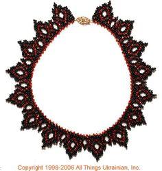 Ukrainian Gherdany Beadwork  # 06-6007 handmade in Ukraine. Originally sold on http://www.allthingsukrainian.com/Jewelry/index.htm