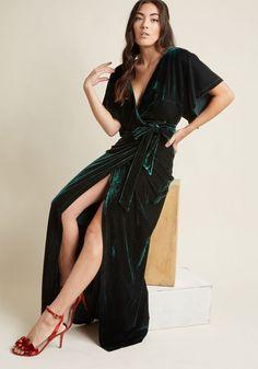 Collectif Silver Screening Velvet Maxi Dress