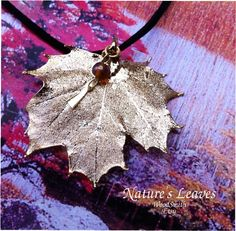 Real Sugar Maple Leaf, 24K Antique gold dipped, bead and charm. $18.95, via Etsy.