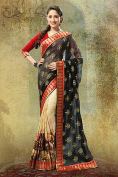 Doll up and #Shine! Quite Literally!! It's so simple, you see.. With #Sarees like this you can't help but #Shimmer and #shine Our Price: INR 1,999 (64% OFF) Shop Now:http://www.admyrin.com/sarees/exclusive-admyrin-sarees/black-and-cream-crepe-georgette-saree-with-red-dupioni-blouse-piece-11094.htmlView Entire Collection:http://www.admyrin.com/catalogs/rangrasiya.html#ExclusivelyAdmyrin #Saree #Sari #COD #Festive #Occasion #Party #Ethnic