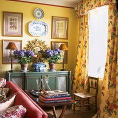 yellow Welsh sitting room