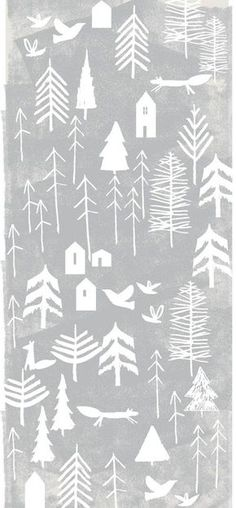 Ideas For Christmas Tree Design Illustration Inspiration Christmas Tree Design, Nordic Christmas, Christmas Art, Christmas Tables, Christmas Graphics, Modern Christmas, Christmas Holidays, Illustration Noel, Winter Illustration