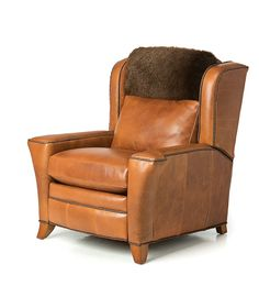 Montana Buffalo Leather Lounger Western Line Collection