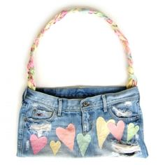 Learn how to transform any old skirt into this super adorable purse! So easy to make and the possibilities are endless!