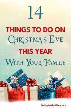 Christmas Eve family traditions can help you make memories to last a lifetime. Here's a list of 14 things to do on Christmas Eve this year with your family. Find fun new ideas to try on Christmas Eve to help make it even better for your family this year. Christmas Eve Games, Christmas Eve Traditions, Traditions To Start, Christmas Eve Dinner, Christmas Activities, Family Traditions, Holiday Fun, Christmas Holidays, Christmas Eve Box Ideas Kids