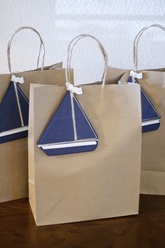 bolsas de papel con decoración de velero