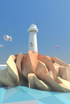 Lighthouse-in-a-low-poly-world-by-Andrus-Valulis