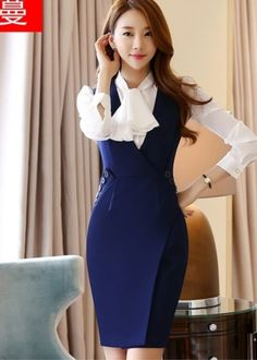 Salopete Elegant Outfit, Classy Dress, Classy Outfits, Stylish Outfits, Fashion Wear, Work Fashion, Fashion Outfits, Pencil Skirt Dress, Dress Skirt