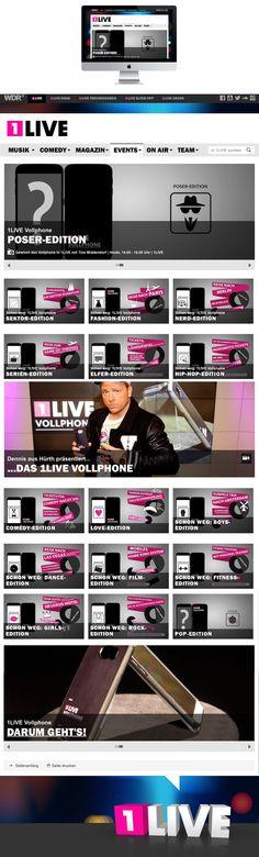 Gestaltung aller Grafiken für die 1LIVE VollPhone Aktion 2015