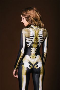 The Superb Glow-In-The-Dark Full Body Skeleton Costume By BANDIKA » Design You Trust. Design, Culture & Society.