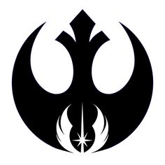 Geeky Star Wars tattoo of the rebel alliance and Jedi order