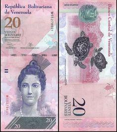 UNC 20 Bolivares 2011 Venezuela T-prefix P-91-New