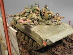 BMP-1P 1/35 Scale Model Diorama