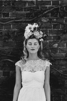 floral queen // photo by Erin + Tara // http://ruffledblog.com/garden-party-bridal-shoot