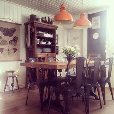 """Violan9 instagram """"Novemberkök med nya lampor från min butik #romantiskating #me like  #mykitchen #asafotoninspo #boligpluss #beautiful_interior #dream_interiors #finahem…"""""""