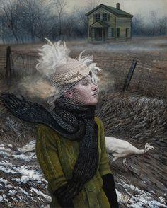 """The Road She Walks"" (2015) 20"" x 16""  Acrylic on canvas. Andrea Kowch"