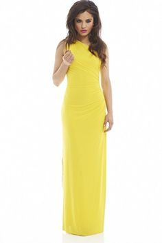 Yellow maxi one shoulder dress Yellow Maxi, Yellow Dress, Summer Outfits, Cute Outfits, Street Outfit, Get The Look, Dress Making, Passion For Fashion, One Shoulder