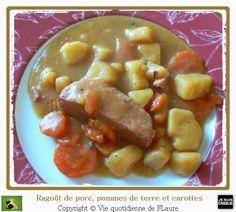 Ragoût de porc, carottes et pommes de terre