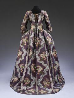 Robe à la francaise, c. 1765-70.