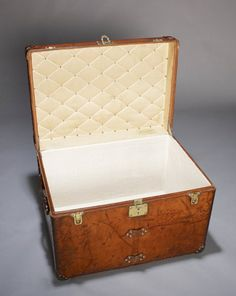 louis vuitton antique trunks | Vintage Louis Vuitton Leather Trunk, circa 1905. at Daniels Antiques