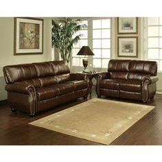 Ashley Leather Sofa Set
