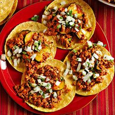 These Chorizo-Calabaza Tacos are a breeze to make! More taco recipes: http://www.bhg.com/recipes/ethnic-food/mexican/fuss-free-tacos-tostadas/?socsrc=bhgpin071113chorizotacos=8