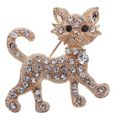 Beautiful Cat Brooch With an Attitude