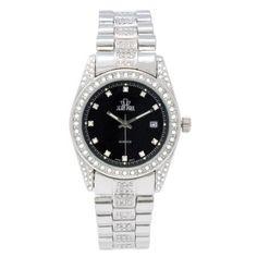 Jean Paul 37mm Silver, Diamond Ice Men's Watch