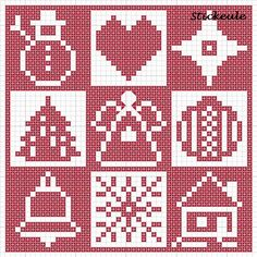 Stickeules Freebies: Weihnachten - Christmas