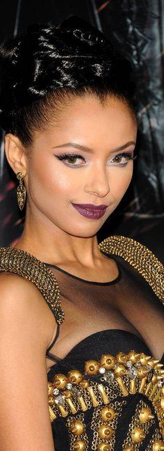 Kat Graham. Want the purple lipstick