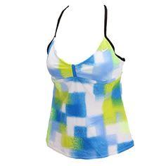 Nike Geometric Paint Racerback Tankini Top - Women's NESS4328 Size 6 Blue Nike http://www.amazon.com/dp/B00HKQXM7K/ref=cm_sw_r_pi_dp_Z6Rwvb126WYDH
