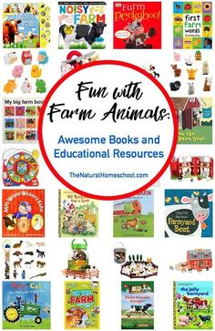 We went online and got some great deals on more farm animals books and it got me thinking to share a neat list of books and resources with you! They are set up by age. Educational Activities For Kids, Printable Activities For Kids, Book Activities, Preschool Activities, Animal Activities, Preschool Books, Indoor Activities, Printable Worksheets, Free Printable