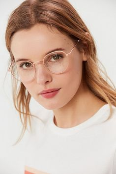 Shop Kendall Round Readers at Urban Outfitters today. We carry all the latest styles, colors and brands for you to choose from right here. Wire Frame Glasses, Glasses Frames Trendy, Fake Glasses, Girls With Glasses, Cheap Eyeglasses, Eyeglasses For Women, Sunglasses Women, Round Sunglasses