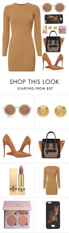 """Sleek n Sheek"" by sleeknsheek ❤ liked on Polyvore featuring House of Holland, Versace, Christian Louboutin, CÉLINE, Yves Saint Laurent, A.L.C. and Dolce&Gabbana"