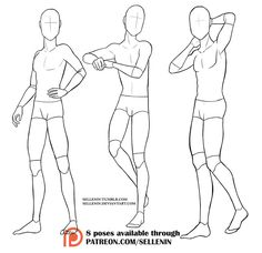 May 2020 - Pose set 6 - male standing poses! by Sellenin on DeviantArt Body Reference Poses, Body Reference Drawing, Drawing Base, Guy Drawing, Character Poses, Character Design, Lineart Anime, Poses Manga, Drawing Poses Male