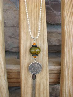 New Zealand 1982 Tuatara Reptile Coin Necklace by BeadToLive