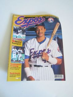 BIG SALE ** Vintage EXPOS souvenir magazine 1996 season with Henry Rodriguez in French by TashasVintages on Etsy