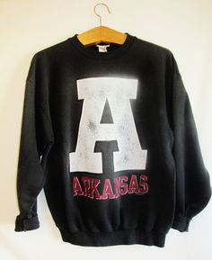 Vintage Arkansas Razorbacks Sweatshirt by FreshtoDeathVintage, $30.00