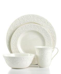 Love this white on white dinnerware set by Lenox! :)