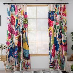 Patterned Zoo Nursery Patchwork Curtains And Drape Kid Room, Colorful Patterned Zoo Nursery Patchwork Curtains And Drape Kid Room, Patchwork Curtains, Printed Curtains, Floral Curtains, Velvet Curtains, Colorful Curtains, Pattern Curtains, Vintage Curtains, Yellow Curtains, Curtain Patterns