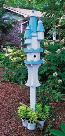 Castle pole birdhouses- Thank you Elaine Thompson for sharing