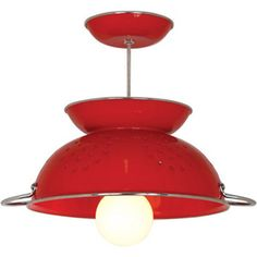 Colander Pendant Lamp Red now featured on Fab.