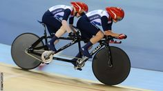 Aileen McGlynn and pilot Helen Scott secured Britain's first medal on day two of the Paralympics with tandem silver behind Australia in London.  The Britons set the fastest time as the penultimate pair in the blind and visually impaired tandem one-kilometre time-trial at the Velodrome.  But world champions Felicity Johnson and Stephanie Morton overhauled them in the final run to grab the gold.  Britain's Lora Turnham and pilot Fiona Duncan finished in fourth place.