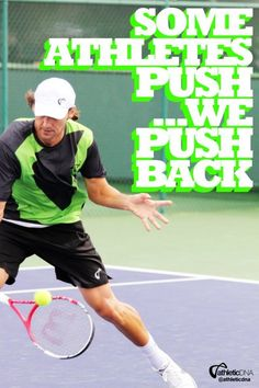 Some athletes #push...we push back. #BornForThis